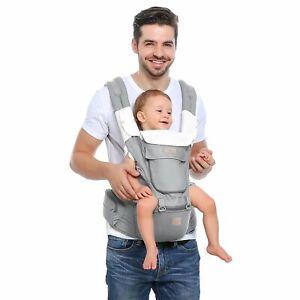 Babytrage mit Hüftsitz Taille Hocker 8 Tragepositionen für Kinder 0-36 Monate
