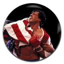 Rocky Movie Sylvester Stallone Boxing 25mm / 1 Inch D Pin Button Badge
