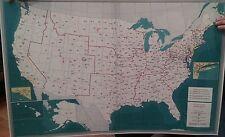 USA 3 Digit Zipcode Laminated Wall Map 3'x4'