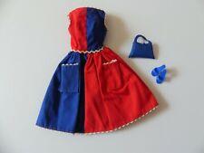 Vintage Barbie #943 Fancy Free Dress w/ blue OT shoes & Fancy Trimmins Purse
