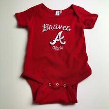 Atlanta Braves MLB Baseball Baby One Piece 12M 12 Months Red White Snaps