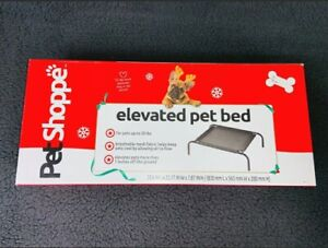 """Pet Shoppe Elevated 7"""" Dog Cat Bed New In Box NIB Unused Up To 20 Lbs Mesh Bed"""