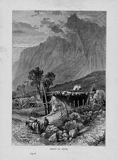 Stampa antica montagna MONTE St. PETER Russia 1879 Antique print античный печать