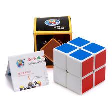 White 2x2 Magic Speed Cube Mini Cube Pocket Cube Smooth Twist Puzzle Kids Toys