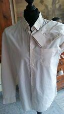 Sportliches Herrenhemd, Slim Fit LACOSTE, creme-gelb-blau Gr. 42