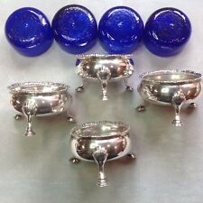 Sterling silver set of 4 salts by Robert Hennell 1759/71