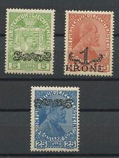 LIECHTENSTEIN, 3 VARIETIES ISSUE 1920 UNSED, NH/NG