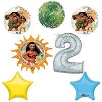 Disney Moana 2nd Holographic Birthday Party Balloon Supplies Decoration Kit