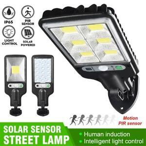 LED COB Solar Street Light PIR Motion Sensor Outdoor Wall Road Flood Lamp IP65