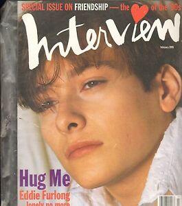 Interview Magazine--Feb. 1995--Eddie Furlong-----86