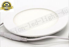 3W Ultra thin Round Led Ceiling Recessed Panel Down Light Lamp 6000K Cool White