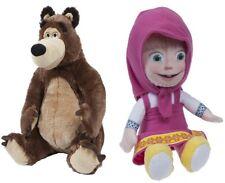 SET Mascha und der Bär Mischa Plüsch Figur Puppe Stofftier 20-22 cm Masha Misha