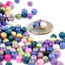 500 Pcs 4mm Assorted Glass Pearl Round Beads GP0241
