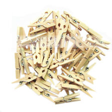 New Set of 100 Wood Clothespins Wooden Laundry Clothes Pins Crafts
