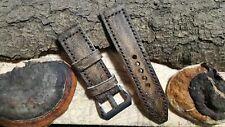 Handmade 26mm genuine calf leather watch strap band for .panerai AMMO pam #182