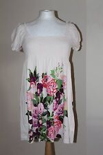 The Garden Collection H&M Cream Multicoloured Floral Long Top Size M