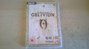 THE ELDER SCROLLS IV OBLIVION 4 - PC GAME - ORIGINAL & COMPLETE inc MANUAL & MAP