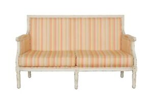 Traditional Striped Loveseat Settee