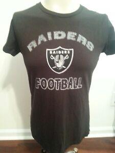 Las Vegas Raiders Ladies 2X-Large Tee Shirt Black (XXL) Adult Women Raiders NFL
