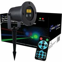 LED Laser Remote Control Christmas House Outdoor Projector Xmas Green Red Blue