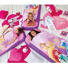 Kids Childrens Juniors Disney Princess Sleeping Camping Bags Air Bed Ready bed