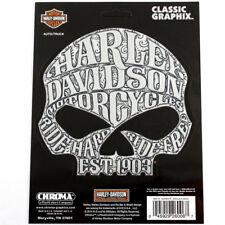 Biker Harley Davidson HD Sugar Skull Logo Chrom Emblem Aufkleber Decal Sticker
