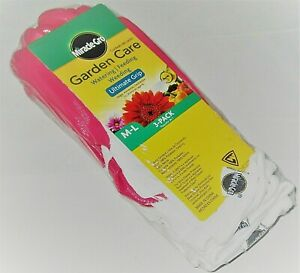 MIRACLE -GRO LADIES GARDEN GLOVES  3-Pack  M-L  ULTIMATE GRIP  Pink/White