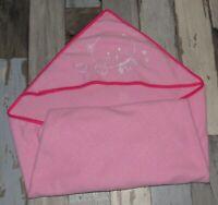 ~ Sortie de bain cape rose brodée ~ ADE01