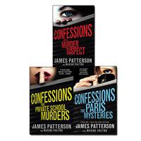 James Patterson Collection Confessions Series 3 Books Set Paris Mysteries NEW
