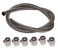"83216mu FUEL LINE 5/16"" I.D. Braided Stainless Steel Line Harley"