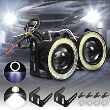 2x 25 Car Cob Led Fog Light Projector Angel Eye Halo Ring Drl Driving Bulb 30w