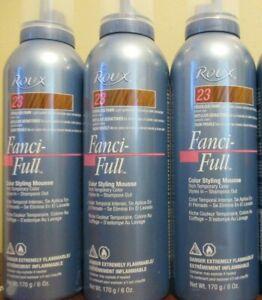 Lot of 3 Roux Fanci-Full Color Styling Mousse 23 Frivolous Fawn – 6 oz