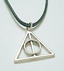 Harry Potter Deathly Hallows Symbol Tibetan Silver Handmade Pendant Necklace UK