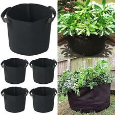 5 PACK 5 Gallon Plant Grow Bags Fabric Pots with Handles Hydroponic Black