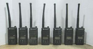 Lot of 7 Motorola CP110 16CH VHF Walkie Talkie Portable Two Way Radio No Battery
