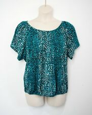 MILLERS jersey animal print stretch top Sz 16