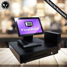 More details for 12in touchscreen epos cash register till system hospitality cafe bar restaurant