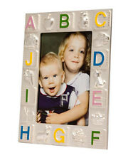 """FIRST YEAR BABY PHOTO FRAME 1.5x2"""" PHOTO SILVER PLATED CHRISTENING GIFT NEWBORN"""