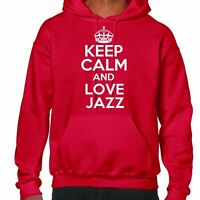 keep calm and love jazz Sudadera Con Capucha
