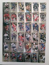Lot of 36 1996-97 UD COLLECTORS CHOICE-MVP-SAKIC+BRODEUR+HULL-NO DUPLICATES