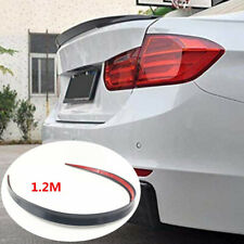 Black Auto Rear Wing Lip Spoiler Tail Car Trunk Roof Trim Sticker Decor 1.2M