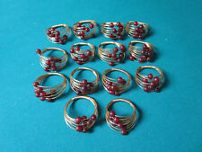 """Napkin Rings 14 With Beads And Metal Strings Around 3"""" [*Smll]"""