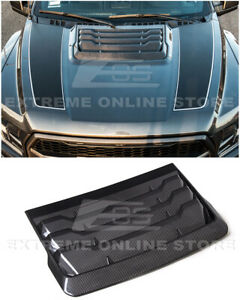For 17-Up Ford Raptor | Factory Style CARBON FIBER Front Hood Vent Louver Cover