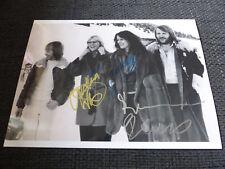 ABBA signed Autogramme auf 20x28 cm Foto LOOK