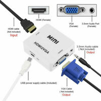 VGA To HDMI Full HD Video 1080P Converter Box Adapter For PC Laptop DVD HDTV I2
