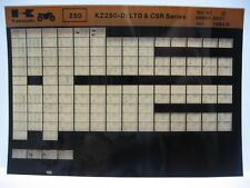 Kawasaki KZ250 1980 - 1981 Parts Microfiche NOS k259