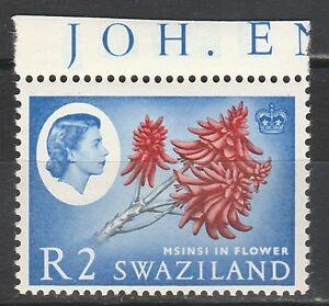 SWAZILAND 1962 QEII FLOWER R2 STAMP MNH **