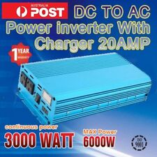 Pure Sine Wave Inverter 3000W - 6000W 12V DC TO 240V AC  LED Double DISPLAY AUS
