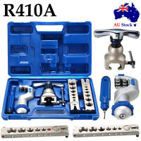 R410A Refrigeration Eccentric Cone Pipe Cutter Ratchet Flaring Flare Tool Kit