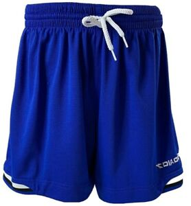 Diadora Soccer Shorts Youth Size S Blue with Stripes Futbol Vintage 90's